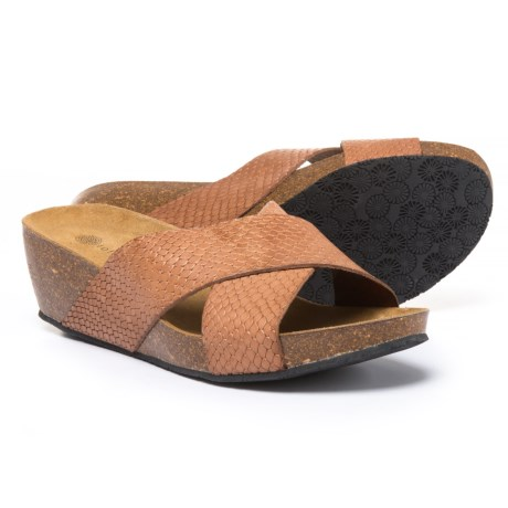 Eric Michael Violet Sandals - Leather, Wedge Heel (For Women)