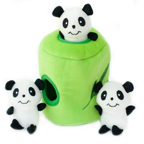 ZippyPaws Zippy Burrow Panda 'N Bamboo Dog Toy - Squeaker