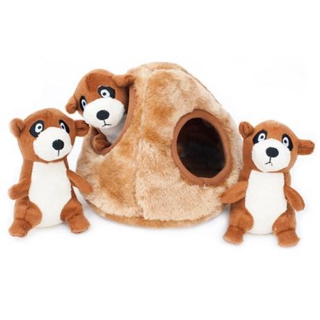 ZippyPaws Zippy Burrow Meerkat Den Dog Toy