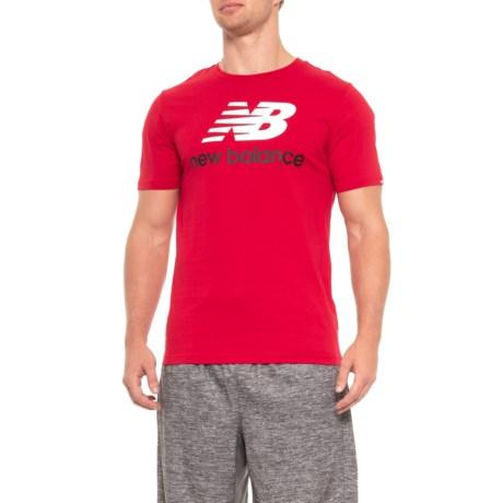 New Balance Stacked Logo T-Shirt - Cotton, Short Sleeve (For Men)