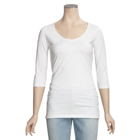 Left Coast Tee Shirt - Stretch Pima Cotton, 3/4 Sleeve (For Women)