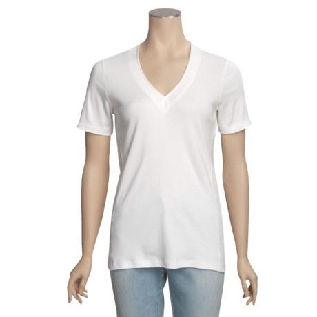 Left Coast Tee V-Neck Shirt - Pima Cotton, Short Sleeve (For Women)