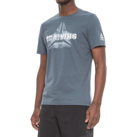 Reebok Expressive Training T-Shirt - Cotton, Short Sleeve (For Men)