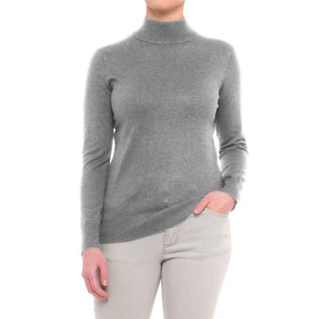Metric Knits Mock Neck Sweater (For Women)