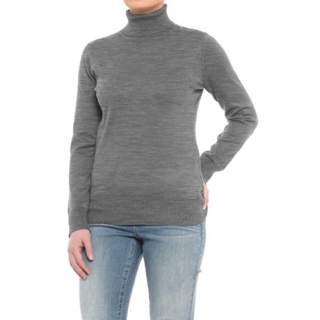 Metric Knits Turtleneck Sweater (For Women)