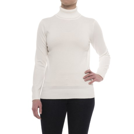 Metric Knits Turtleneck Sweater (For Women)