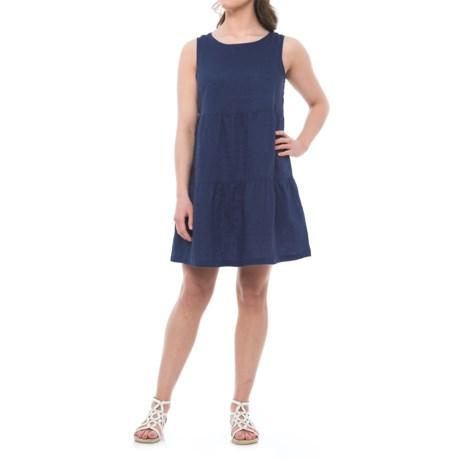 Artisan NY Tiered Linen Dress - Sleeveless (For Women)