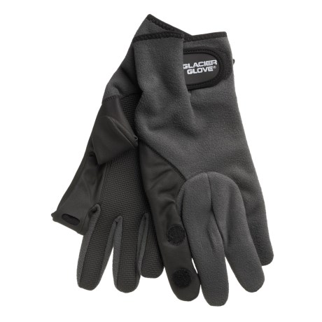 Glacier Glove 710 Split Finger Gloves - Windproof Fleece (For Men)