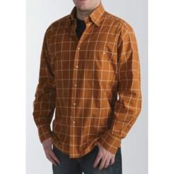 Ike Behar Windowpane Sport Shirt - Long Sleeve (For Men)