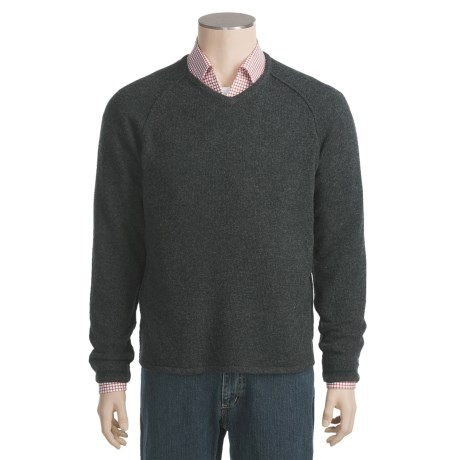 Neve Charles Lambswool Sweater - V-Neck (For Men)