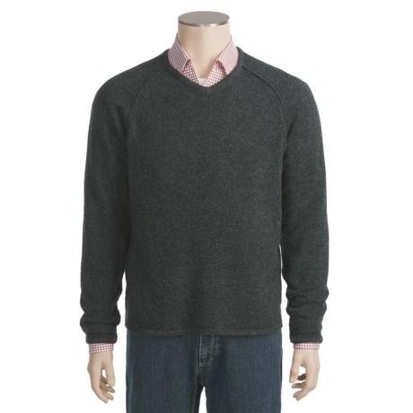 Neve Charles Lambswool Sweater - V-Neck (For Men)