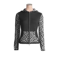 Neve Gloria Hoodie Sweater - Cotton-Merino Wool, Full Zip (For Women)