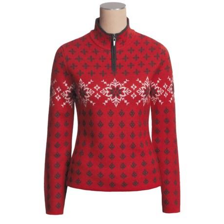 Neve Annika Nordic Sweater - Merino Wool, Zip Neck (For Women)