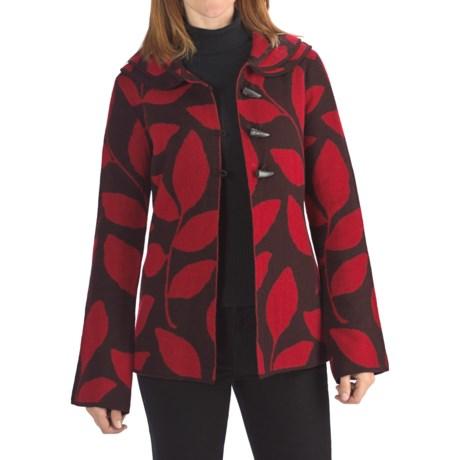 Neve Valerie Boiled Wool Jacket - Leaf Print (For Women)