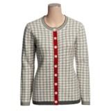 Neve Fergie Polka-Dot Cardigan Sweater - Lambswool (For Women)