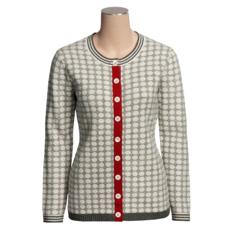 Neve Fergie Polka-Dot Cardigan Sweater - Lambswool (For Women)