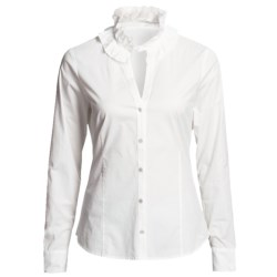 Vineyard Vines Victoria Ruffle Shirt - Long Sleeve (For Women)