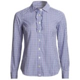 Vineyard Vines Launch Plaid Boyfriend Shirt - Ruffled, Long Sleeve (For Women)