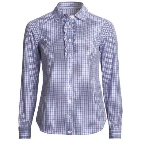 Vineyard Vines Launch Plaid Boyfriend Shirt - Ruffled, Long Sleeve (For Women)