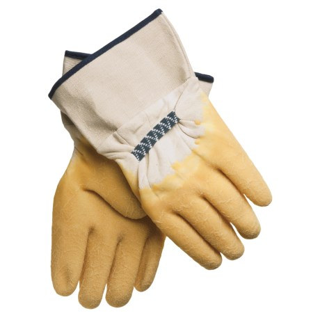 Jacob Ash Rubber-Coated Cotton Gloves - Safety Cuff (For Men)