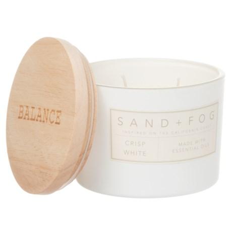 Sand + Fog Crisp White Candle - 2-Wick, 12 oz.