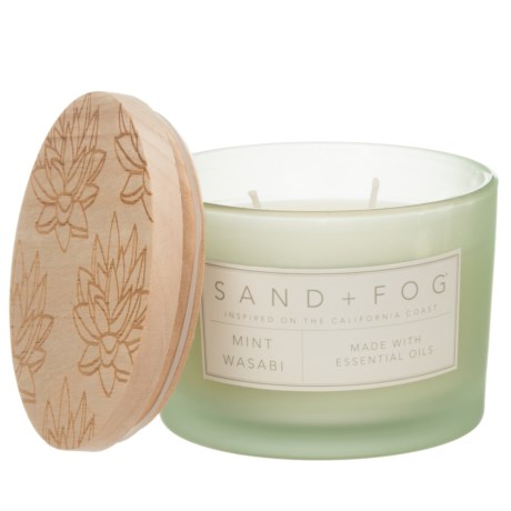 Sand + Fog Mint and Wasabi Candle - 2-Wick, 12 oz.