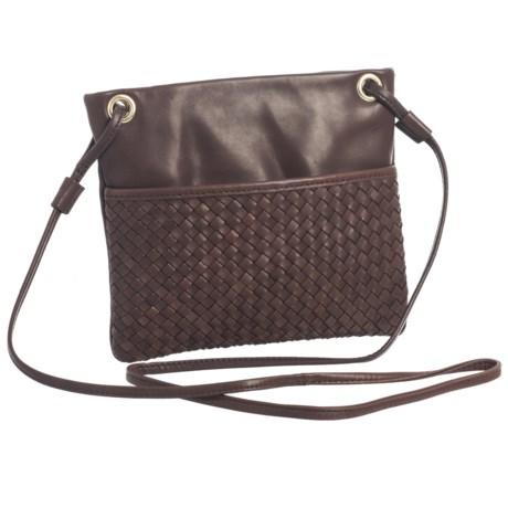 Margot Mini Square Woven Crossbody Bag - Leather (For Women)