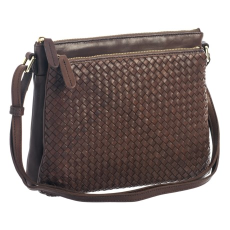 Margot Accordion Crossbody Bag - Leather (For Women)