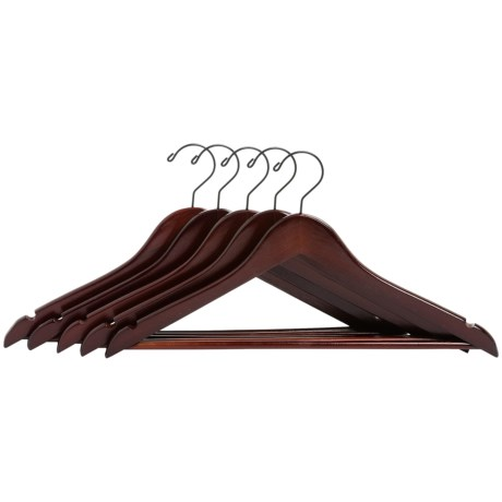 neatfreak! Contoured Wood Hangers - 5-Pack