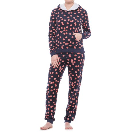 Jane and Bleecker Hooded Pajamas - Long Sleeve (For Women)