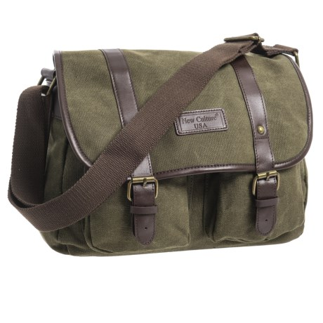New Culture USA Canvas Messenger Bag - Small