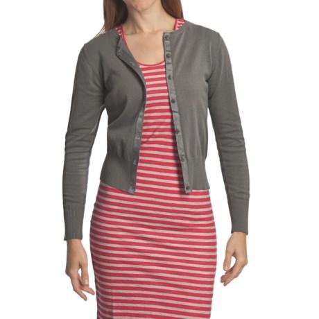 Carve Designs Wellington Cardigan Sweater - Cotton, Long Sleeve (For Women)