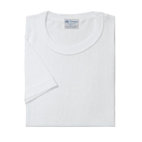 Sunspel Q14 Cellular Cotton T-Shirt- Short Sleeve (For Big Men)