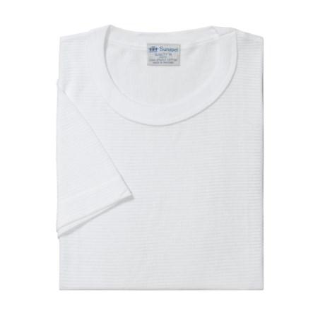 Sunspel Q14 Supima Cotton Shirt-Underwear, Short Sleeve (For Men)