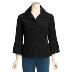 Tribal Sportswear Stretch Corduroy Jacket - Ruffle Detail (For Women)