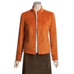 Tribal Sportswear Biker Jacket - Zip Front (For Women)