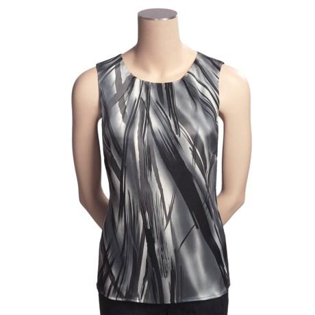 Tribal Sportswear Stretch Satin Shirt - Sleeveless (For Women)