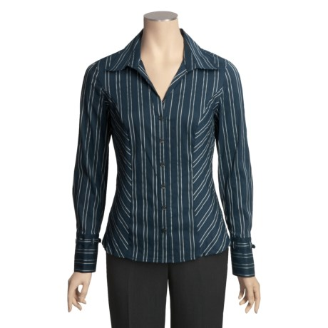 Tribal Sportswear Jacquard Stripe Shirt - Long Sleeve (For Women)