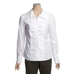 Tribal Sportswear Ruched Shirt - Long Sleeve (For Women)