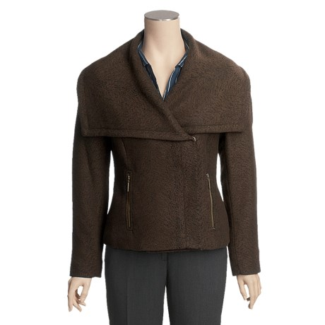 Tribal Sportswear Shawl Collar Jacket - Zip Front (For Women)