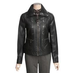 Tribal Sportswear Faux-Leather Jacket (For Women)