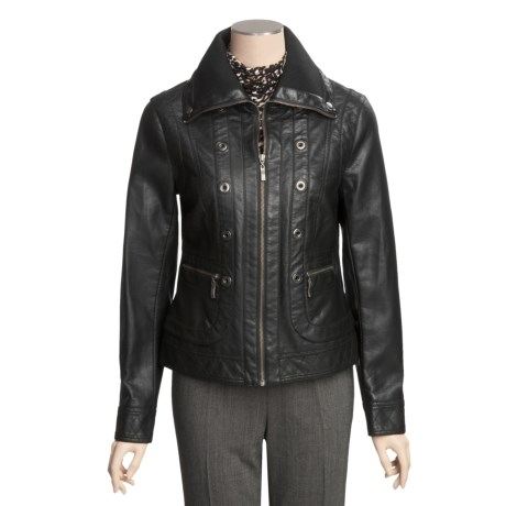 Tribal Sportswear Faux-Leather Jacket (For Women)