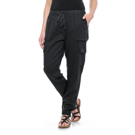 Artisan NY Solid Pull-On Pants - Linen (For Women)