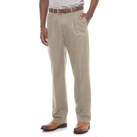 Specially made Pleated Front Cotton Pants - Button Pockets (For Men)