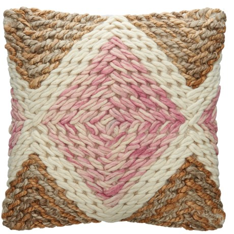 Loloi Jute-Cotton Decor Pillow - 18x18""