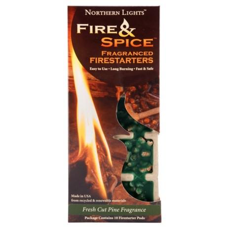 Northern Lights Fire and Spice Fragranced Firestarter