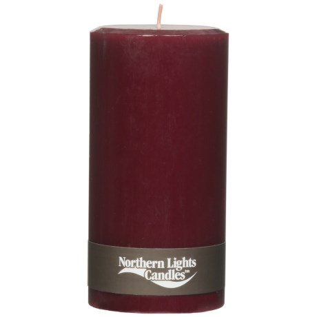 Northern Lights Autumn Pillar Candle - 3x6""