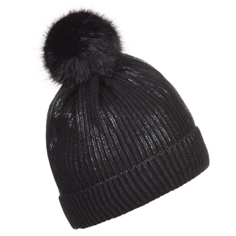 FITS Accessories Shiny Pompom Beanie (For Women)