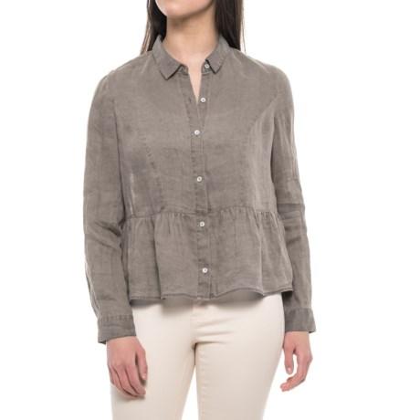 Artisan NY Pigment-Dyed Peplum Shirt - Linen, Long Sleeve (For Women)