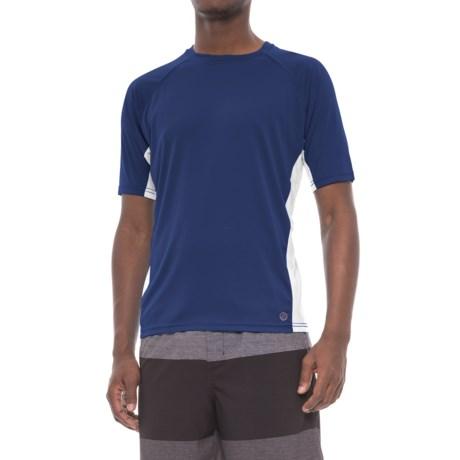 Mr. Swim Color-Block Swim Shirt - UPF 50+, Short Sleeve (For Men)